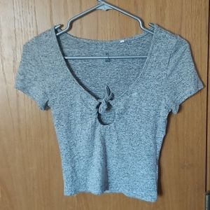 Grey shirt with front detail